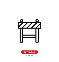 barrier icon vector image