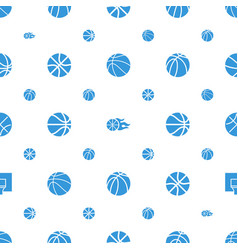 Basketball icons pattern seamless white background vector