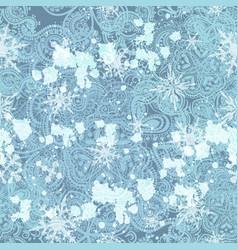 beautiful elegant snowflakes ornament pattern vector image