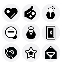 black social icons Icon set vector image