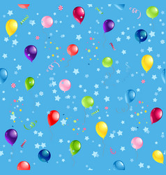Blue pattern balloons vector