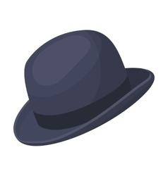 Bowler hat icon in cartoon style isolated on white vector image