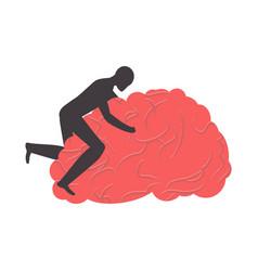brain ing brains man sex on gyrus vector image