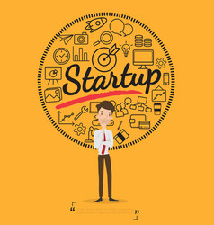 Business people for start up concept vector