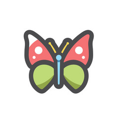 Butterfly mosaic moth icon cartoon vector