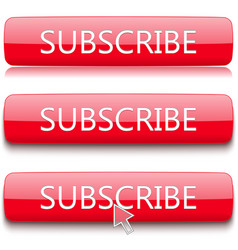 button to subscribe set vector image
