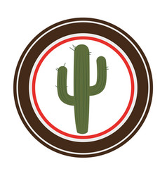 Cactus plant wild west icon vector