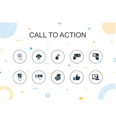 Call to action trendy infographic template thin vector