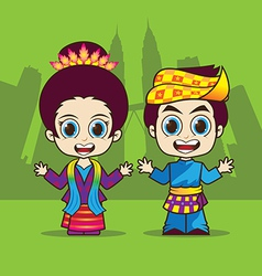 Cartoon Asean Malaysia vector image