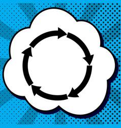 circular arrows sign black icon in bubble vector image