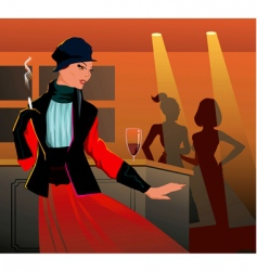 classy lady vector image