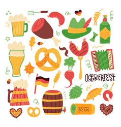 clip art oktoberfest set - grilled sausage vector image