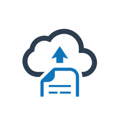 cloud file upload icon vector image