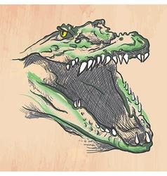 Crocodile - an hand drawn vector