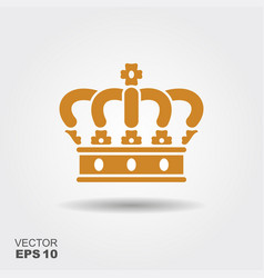 crown flat icon vector image