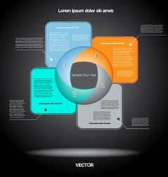 Diagram infographic for business four positions vector image