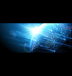 digital network vector image