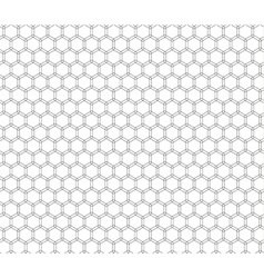 Double honeycomb seamless pattern vector image