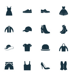 Dress icons set collection of sweatshirt vector
