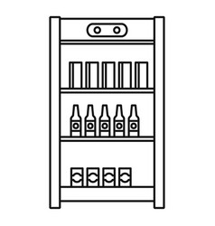 drinks refrigerator icon outline style vector image