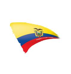 Ecuador flag on a white vector