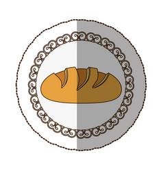 Emblem nomal bread icon vector