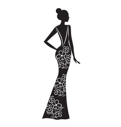 fashion model silhouette beautiful woman vector image