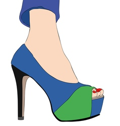 Fashion shoes 001 vector