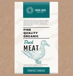 Fine quality organic duck abstract meat vector
