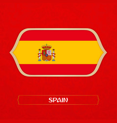 flag of spain is made in football style vector image