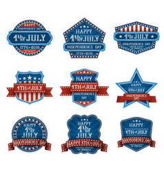 fourth july design elements vector image
