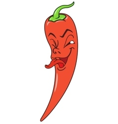 Fresh pepper cartoon vector image