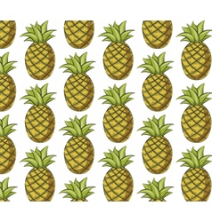 Fresh pineapple pattern vector image