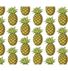 Fresh pineapple pattern vector