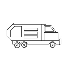 Garbage truck waste collector icon outline style vector image