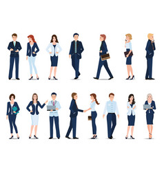 Group of business man and business woman isolated vector