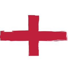 grunge england flag or banner vector image