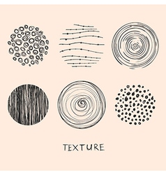 Hand drawn textures and brushes vector