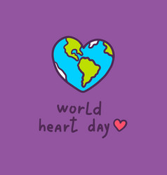 heart day concept background hand drawn style vector image