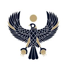 Horus falcon bird egyptian logo icon vector