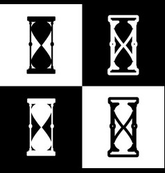 Hourglass sign black and vector