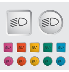 Icon dipped headlights vector