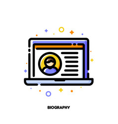 Icon job application form with profile photo vector