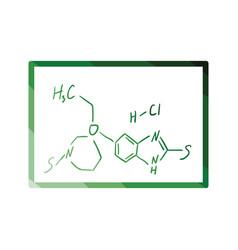 Icon of chemistry formula on classroom blackboard vector