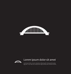 isolated suspension icon arch element can vector image