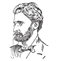 Joseph pulitzer vintage vector
