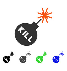 Kill bomb flat icon vector