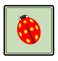 Ladybird red icon vector