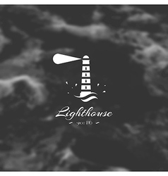 Lighthouse element for design silhouette sign vector