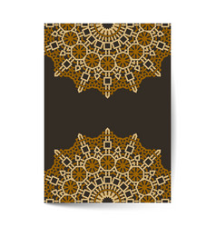 luxury premium cover design with mandala element vector image